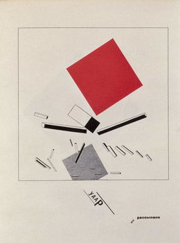 Obrazová reprodukce `Of Two Squares`, frontispiece design, 1920, pub. in Berlin, 1922